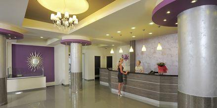 Reception på hotell EuroNapa i Ayia Napa, Cypern.