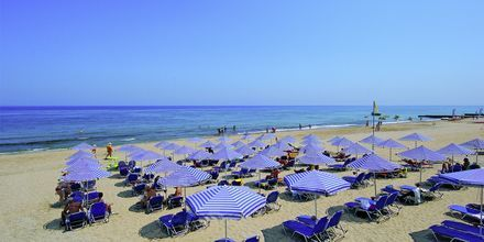 Strand vid Eva Bay på Kreta.