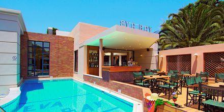 Pool och poolbar på Eva Bay på Kreta.