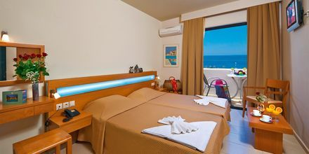 Dubbelrum på Eva Bay på Kreta.