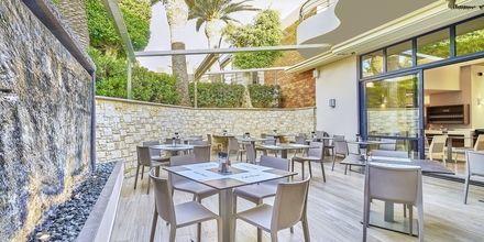 Restaurang på Eva Bay på Kreta.