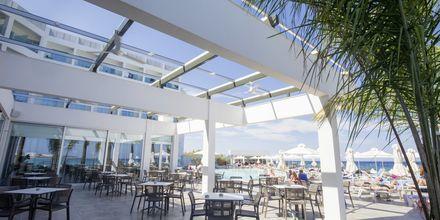 Poolbaren på hotell Evalena Beach i Fig Tree Bay, Cypern.