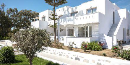 Nyrenoverade hotell Evdokia på Naxos, Grekland.