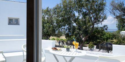 Balkong i lägenhet på hotell Evdokia, Naxos.