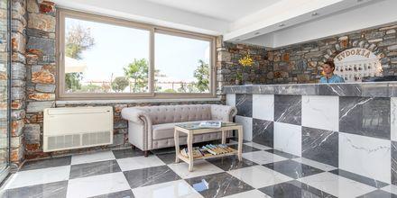 Lobby på hotell Evdokia på Naxos.