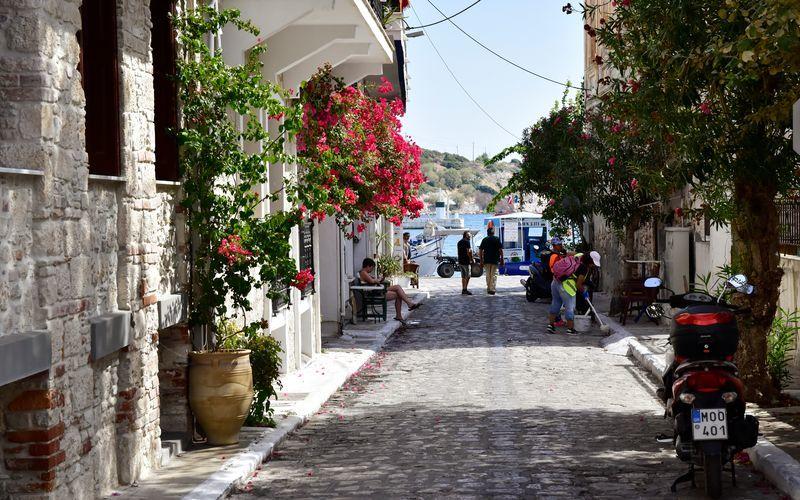 Hotell Evripili på Samos i Grekland.