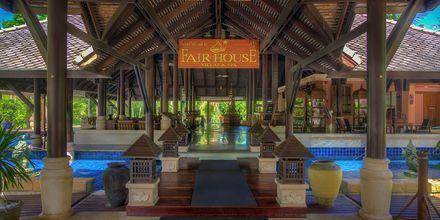 Entré på Fair House Villas & Spa på Koh Samui, Thailand.