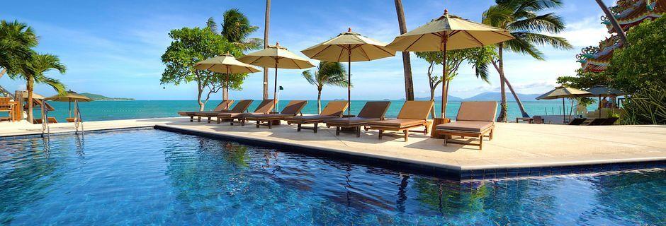 Poolområde på Fair House Villas & Spa på Koh Samui, Thailand.