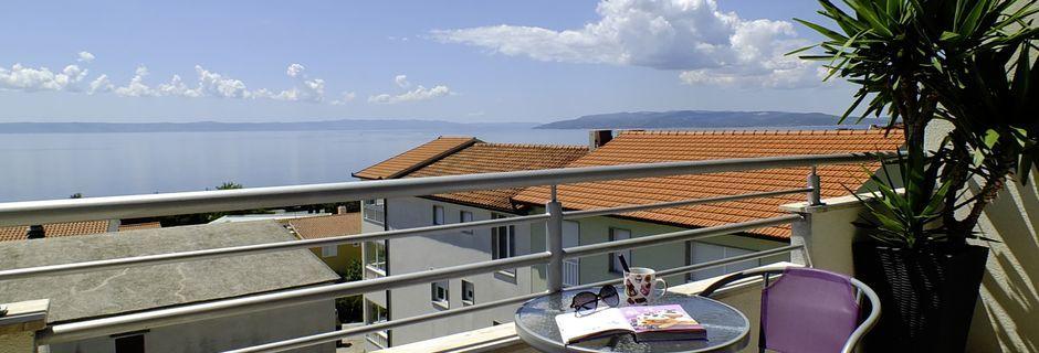 Utsikt från hotell Fani i Makarska, Kroatien.