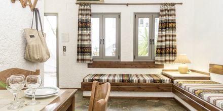 Enrumslägenhet i äldre del på hotell Flamingos på Kreta, Grekland.