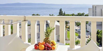 Utsikt från hotell Flora i Tucepi, Kroatien.