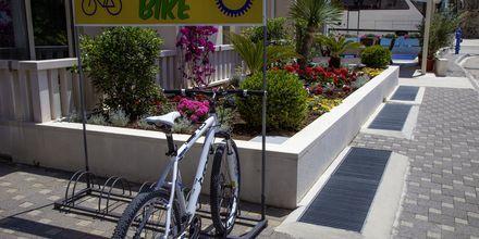 Cykeluthyrning på hotell Flora i Tucepi, Kroatien.