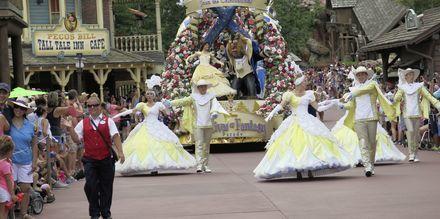 Paraden på Magic Kingdom i Orlando, Florida.
