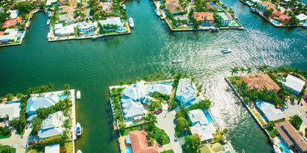 """Fort Lauderdale kallas ofta för """"Venica of Florida"""", tack vare sitt stora kanalsystem."""