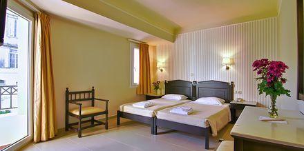 Dubbelrum på hotell Fortezza i Rethymnon på Kreta, Grekland.