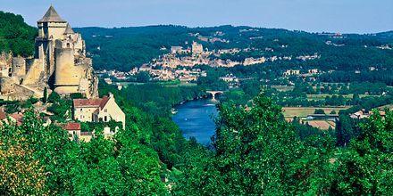 Frankrikes vackra landsbygd