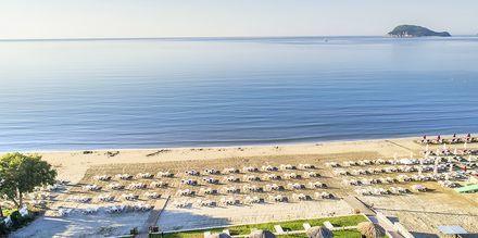 Stranden vid hotell Galaxy Beach Resort i Laganas, Zakynthos.
