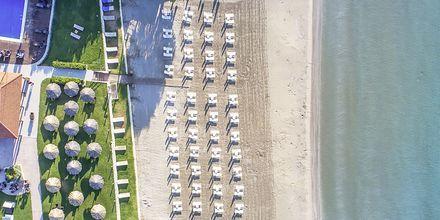 Stranden på hotell Galaxy Beach Resort i Laganas, Zakynthos.