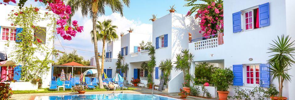 Poolen på hotell Galini, Kreta.