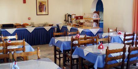 Frukostrestaurangen på hotell Gardenia på Santorini, Grekland.
