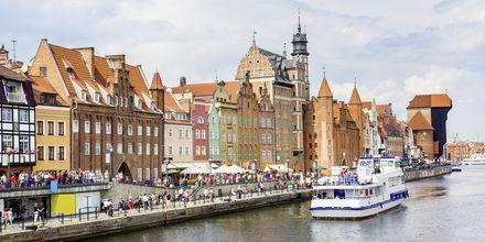 Hamnen i Gdansk, Polen.