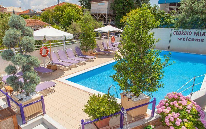 Hotell Georgio i Nidri på Lefkas.