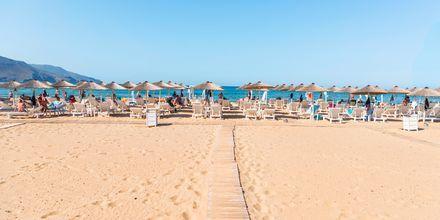 Stranden i Georgiopolis på Kreta, Grekland.