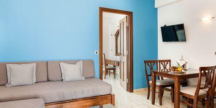 Tvårumslägenhet på hotell Geraniotis Beach i Platanias på  Kreta, Grekland.