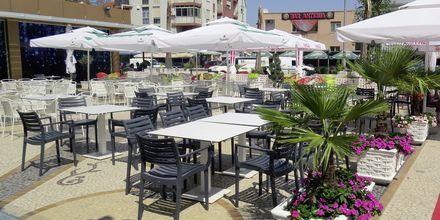 Snackbaren på Germany Hotel, Durres Riviera i Albanien