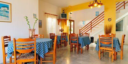 Frukostrum på hotell Gianna på Leros, Grekland.