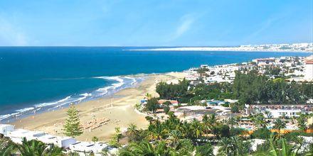 Utsikt mot stranden från Gloria Palace San Agustin Thalassso & Hotel, Gran Canaria.