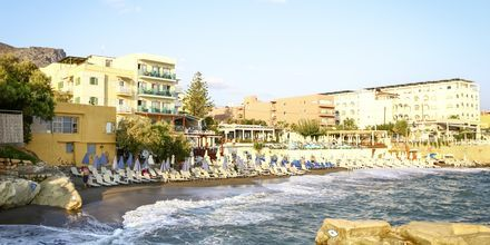 Stranden vid hotell Golden Beach i Hersonissos på Kreta.