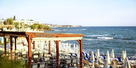 Strandrestaurang, hotell Golden Beach i Hersonissos på Kreta.