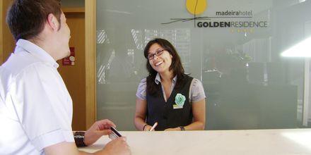 Reception Bar på hotell Golden Residence, Madeira.