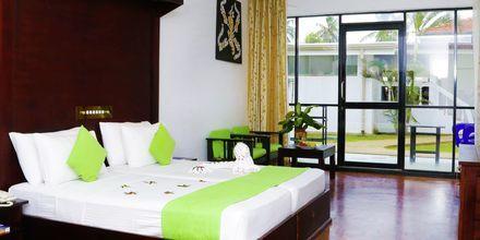 Dubbelrum på hotell Golden Star Beach i Negombo på Sri Lanka.
