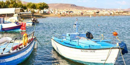 Hamnen i Gouves, Kreta.