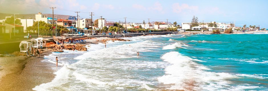 Stranden i Gouves, Kreta.