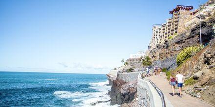 Strandpromenaden i Puerto Rico på Gran Canaria.