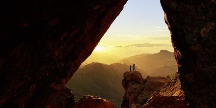 Vackra vyer från i bergen på Gran Canaria.