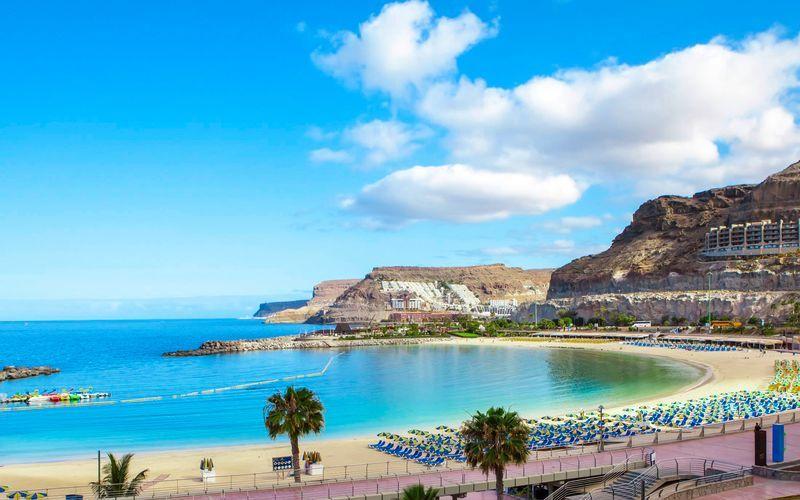 Amadores-stranden på Gran Canaria, Spanien.