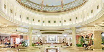 Lobby på Gran Hotel Atlantis Bahia Real i Corralejo, Fuerteventura.