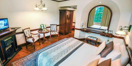 Dubbelrum på hotel Grand Hotell i Nuwara Eliya på Sri Lanka.