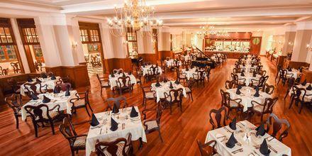 Restaurangen på på hotell Grand Hotel i Nuwara Eliya på Sri Lanka.
