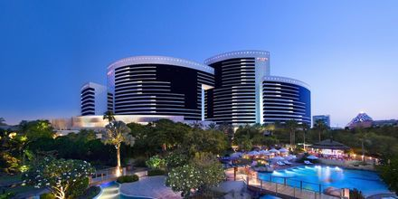 Poolområdet på hotell Grand Hyatt, Dubai.