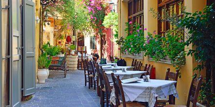 Chania stad på Kreta.