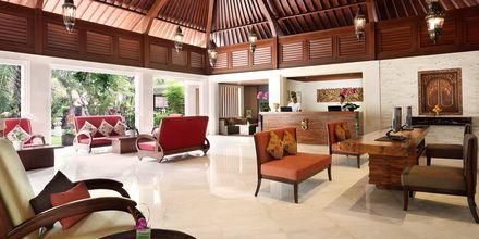 Lobby på hotell Griya Santrian i Sanur, Bali.