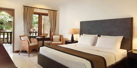 Dubbelrum på hotell Griya Santrian i Sanur, Bali.