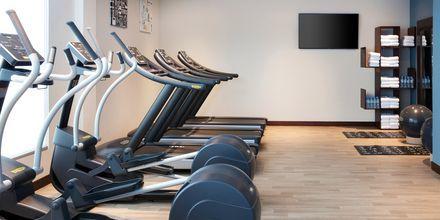 Gym på Hampton by Hilton Dubai al Barsha i Dubai, Förenade Arabemiraten.