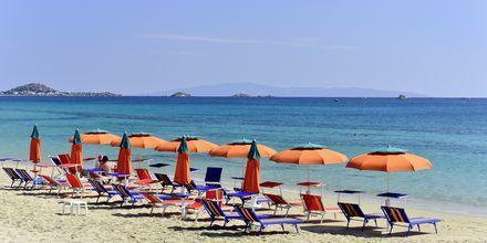 Närmaste strand, Plaka Beach på Naxos.