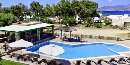 Vy över hotell Harmony på Naxos, Grekland.